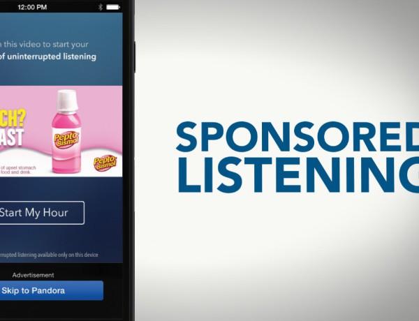 Pandora sponsored listening
