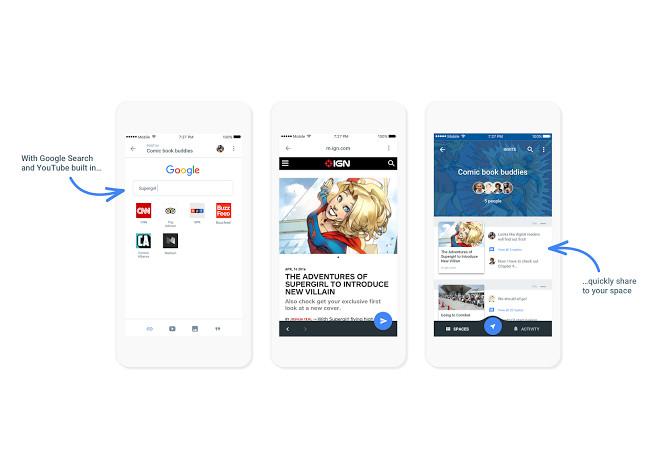 Google unveils new 'Spaces' messaging app