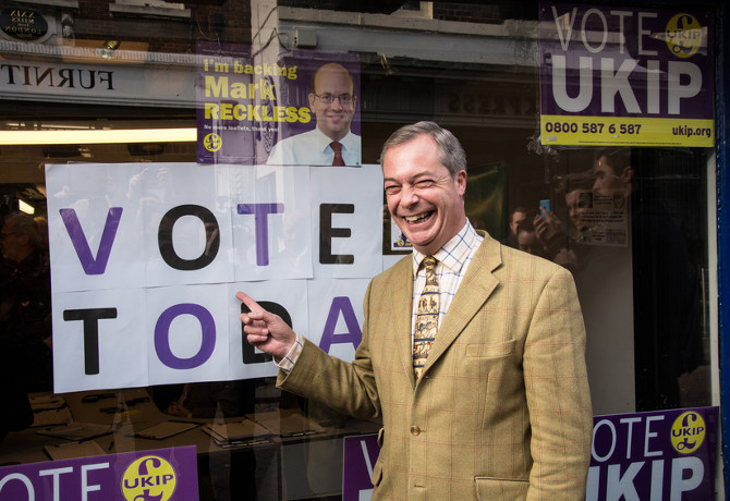UKIP's nationalist leader Nigel Farage played a key role in the UK's decision to vote to leave the EU