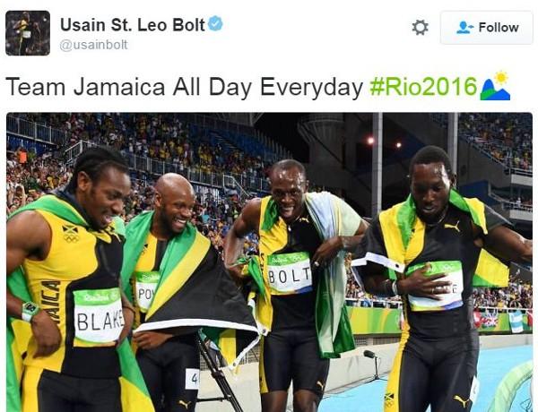 Usain Bolt tweet