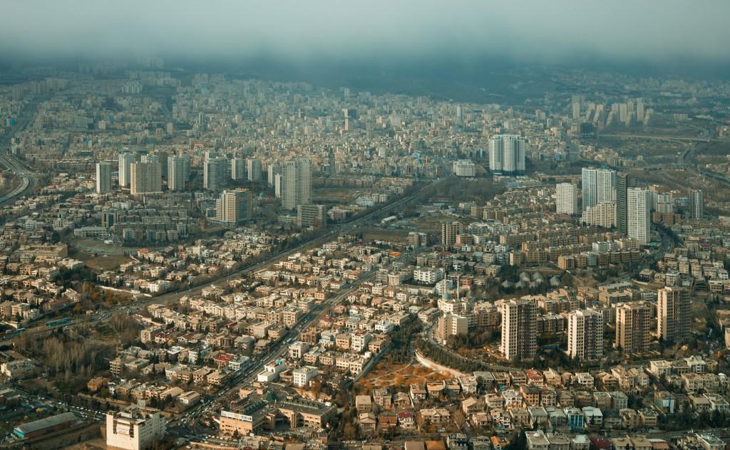 Aerial shot of Tehran