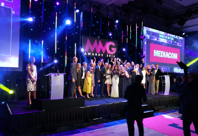 MediaCom celebrates triumphant night at M&M Global Awards 2016