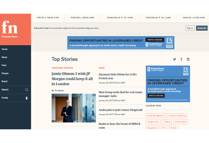 Dow Jones relaunches Financial News brand with revamped mobile-friendly website