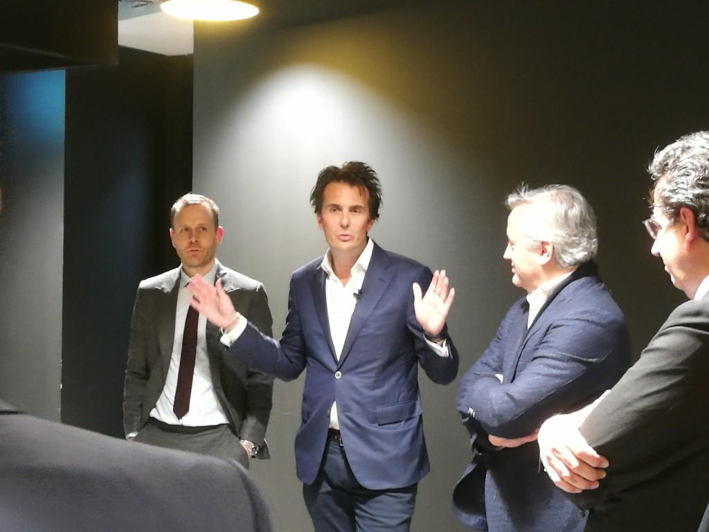 L-R: Chris Hirst, Yannick Bolloré, Dominique Delport, Alfonso Rodés
