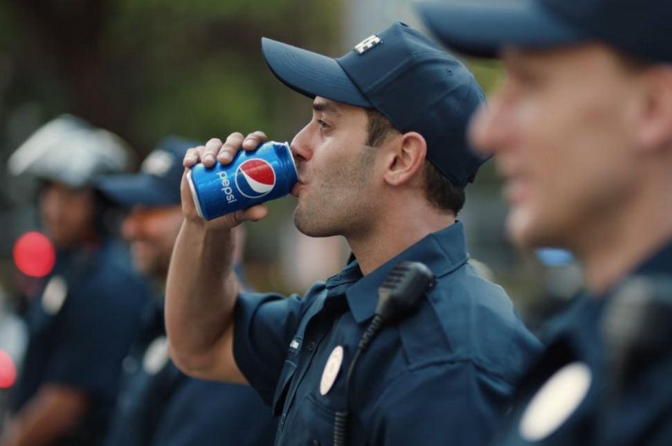 Pepsi protest grab