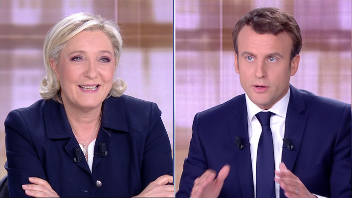 A poll suggested Emmanuel Macron triumphed in last night's TV debate with Marine Le Pen