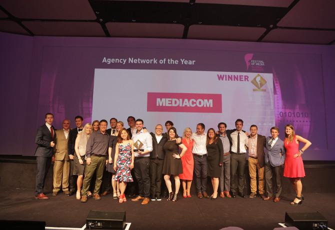 Festival of Media Awards 2017: MediaCom collecting the Agency Network of the Year prize