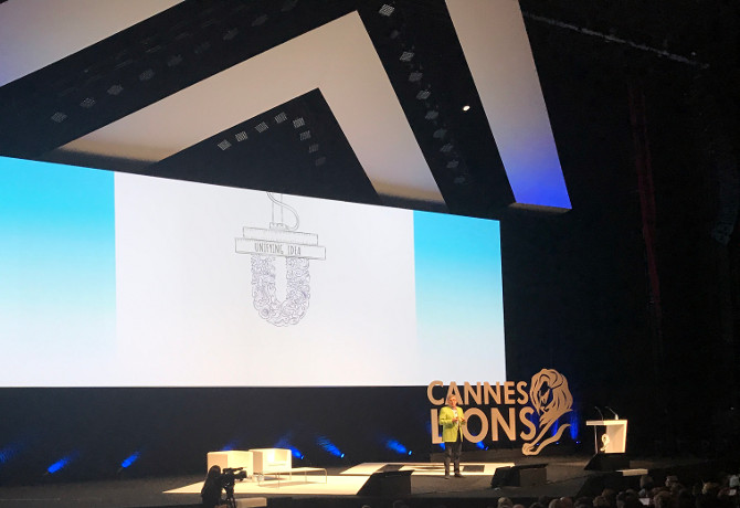 Unilever CMO Keith Weed addressing Cannes Lions 2017